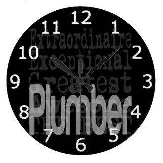 Plumber Extraordinaire Wall Clocks