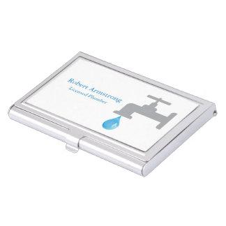 Plumber Faucet Water Drop Business Card Holder