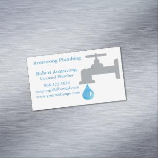 Plumber Faucet Water Drop Magnetic Business Card