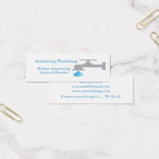 Plumber Faucet Water Drop Mini Business Card