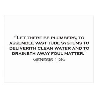 Plumber / Genesis Postcard