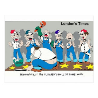 Plumber Hall Of Fame Funny Gifts Tees Collectibles Postcard