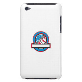 Plumber Hand Pipe Wrench USA Flag Circle iPod Touch Cover