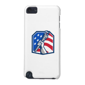 Plumber Hand Pipe Wrench USA Flag Retro iPod Touch 5G Cover