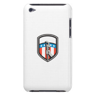 Plumber Hand Pipe Wrench USA Flag Shield Retro Barely There iPod Covers