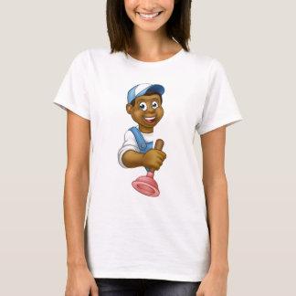 Plumber Holding Plunger Tool T-Shirt