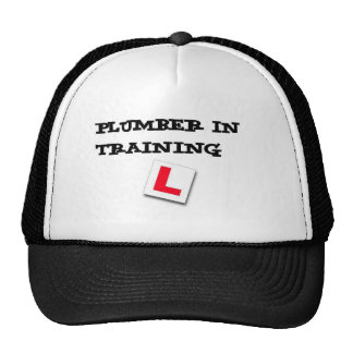 plumber in training cap