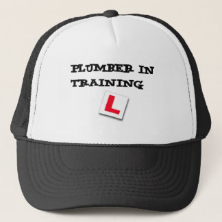plumber in training trucker hat