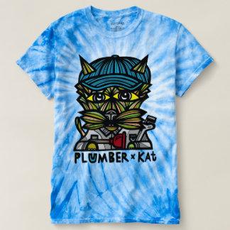 """Plumber Kat"" Men's Cyclone Tie-Dye T-Shirt"