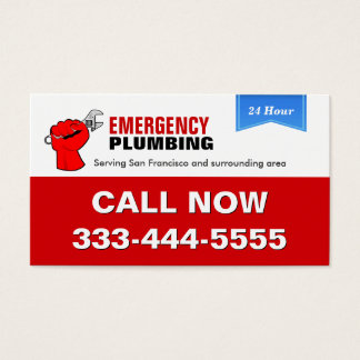 Plumber - Local Emergency Plumbing Services Business Card