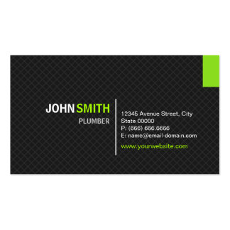 Plumber - Modern Twill Grid Pack Of Standard Business Cards