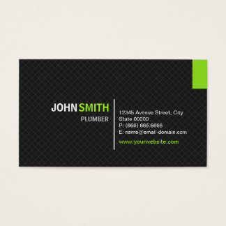 Plumber - Modern Twill Grid Business Card