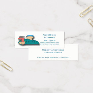 Plumber Pipe Wrench Plumbing Mini Business Card