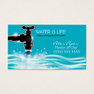 Plumber Plumbing Service Business Card