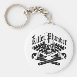 Plumber Skull: Killer Plumber 3.1 Basic Round Button Key Ring