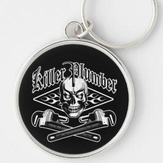 Plumber Skull: Killer Plumber 3.1 Silver-Colored Round Key Ring
