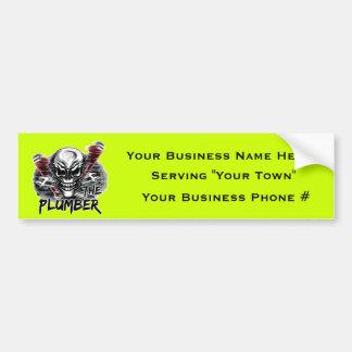 Plumber Skull The Plumber Bumper Stickers