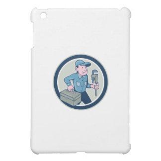 Plumber Toolbox Monkey Wrench Circle Cartoon iPad Mini Case
