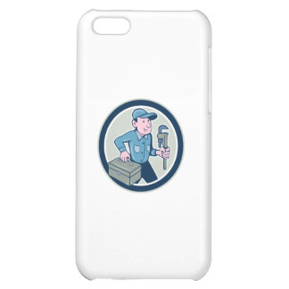 Plumber Toolbox Monkey Wrench Circle Cartoon Case For iPhone 5C