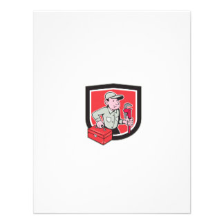 Plumber Toolbox Monkey Wrench Shield Cartoon Custom Invite