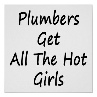 Plumbers Get All The Hot Girls Poster