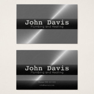 Plumbing and heating business cards