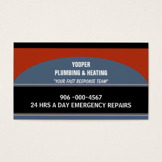 Plumbing and Heating Home Maintenance and Repair Business Card