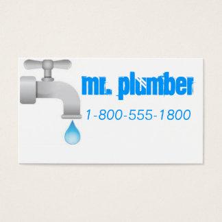 Plumbing Blue Business Card