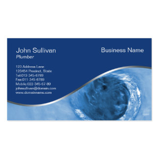 Plumbing Business Card Water Drain Hole