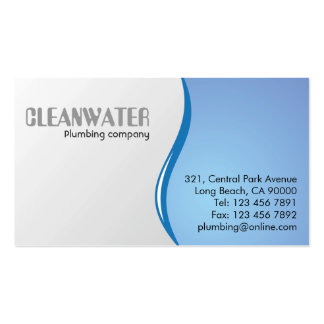 Plumbing - Business Cards