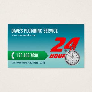 Plumbing Emergency Service Plumber Business Card