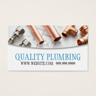 Plumbing Plumber Faucet Water Handyman Maintenance Business Card