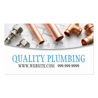 Plumbing Plumber Faucet Water Handyman Maintenance Pack Of Standard Business Cards