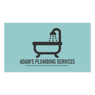 Plumbing Plumber Faucet Water Handyman Maintenance Pack Of Standard Business Cards