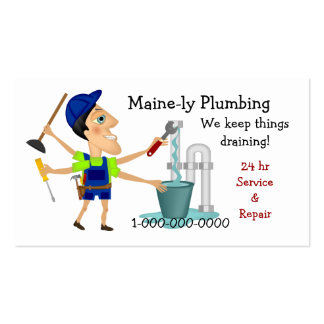 Plumbing Service Pack Of Standard Business Cards