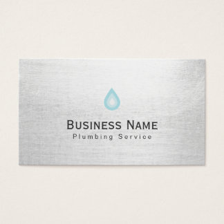 Plumbing Service Water Drop Icon Professional Business Card