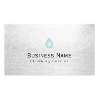 Plumbing Service Water Drop Icon Professional Pack Of Standard Business Cards