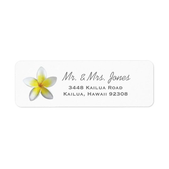 Plumeria Address Labels