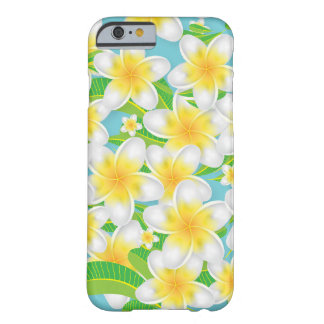 Plumeria Beach Flowers & Blue Sky Barely There iPhone 6 Case