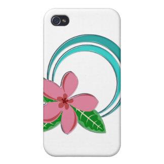 Plumeria Circle iPhone 4 Cover