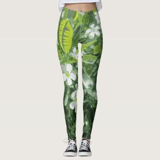 Plumeria Fitness Leggings
