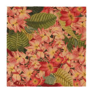 Plumeria Floral Flowers Tropical Cork Coaster