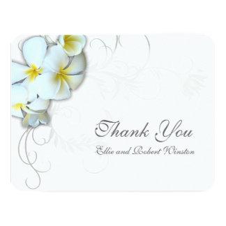 Plumeria Flourish Personalised Thank You Note 11 Cm X 14 Cm Invitation Card