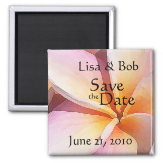 Plumeria Flower Save the Date Magnet