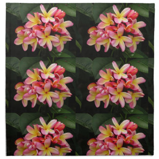 Plumeria Flowers Cloth Napkins