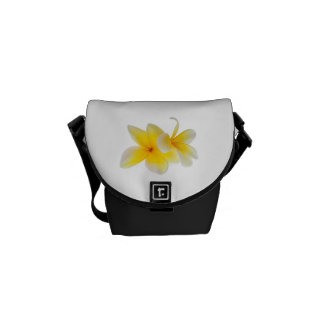 Plumeria Flowers Hawaiian White Yellow Frangipani Commuter Bag