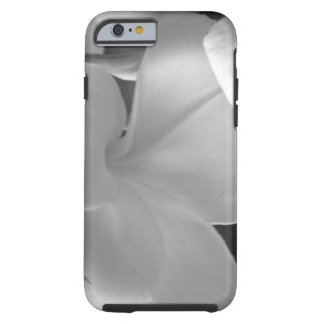 Plumeria Flowers in Black and White Tough iPhone 6 Case