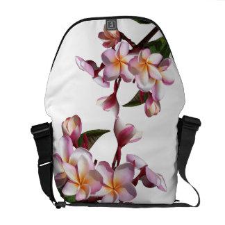 Plumeria Flowers Rickshaw Messenger Bag