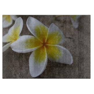 Plumeria - Frangipani Floral Photograph Cutting Board