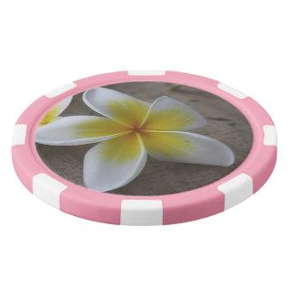Plumeria - Frangipani Floral Photograph Poker Chips